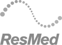 Resmed - customer grayscale logo