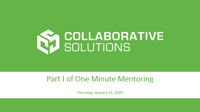 Web Thumbnail for One Minute Mentoring